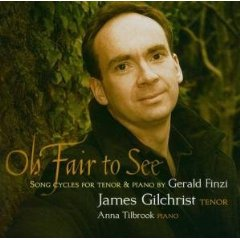 Song Cycles for tenor and piano by Gerald Finzi album cover