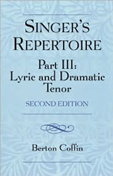 Singer's Repertoire Part III: Lyric and Dramatic Tenor book cover