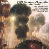 Finzi: Intimations of Immortality and Dies Natalis - Hyperion album cover