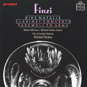 Finzi: Dies Natalis, Clarinet Concerto, and Farewell to Arms album cover