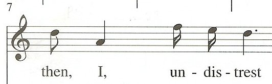 Leap of a minor sixth in measure 7