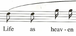 rhythmic motif in measure 5